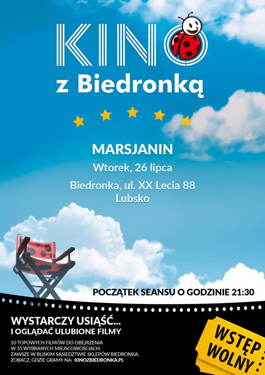 Ilustracja do informacji: Kino plenerowe z Biedronką