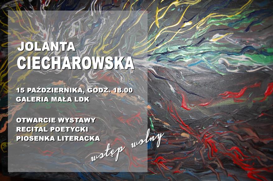 Ilustracja do informacji: Jolanta Ciecharowska - wystawa