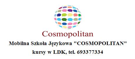 """Ilustracja do informacji: Mobilna Szkoła Językowa """"COSMOPOLITAN"""""""
