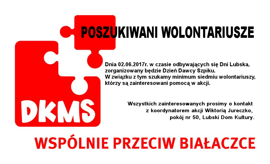 Ilustracja do informacji: Poszukiwani wolontariusze