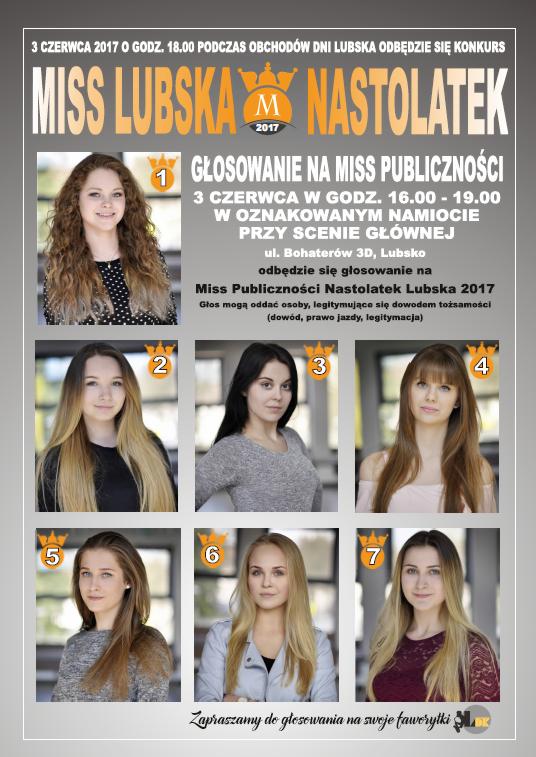Ilustracja do informacji: Miss Lubska Nastolatek 2017