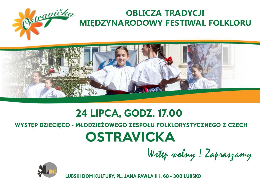 Ilustracja do informacji: Zapraszamy do sali widowiskowej Lubskiego Domu Kultury na występ zespołu OSTRAVICKA