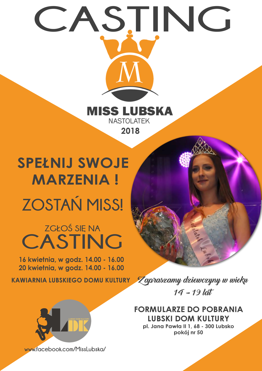 Ilustracja do informacji: Miss Lubska Nastolatek 2018