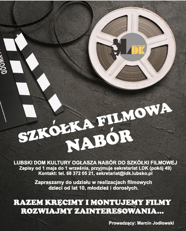 Ilustracja do informacji: Nabór - szkółka filmowa