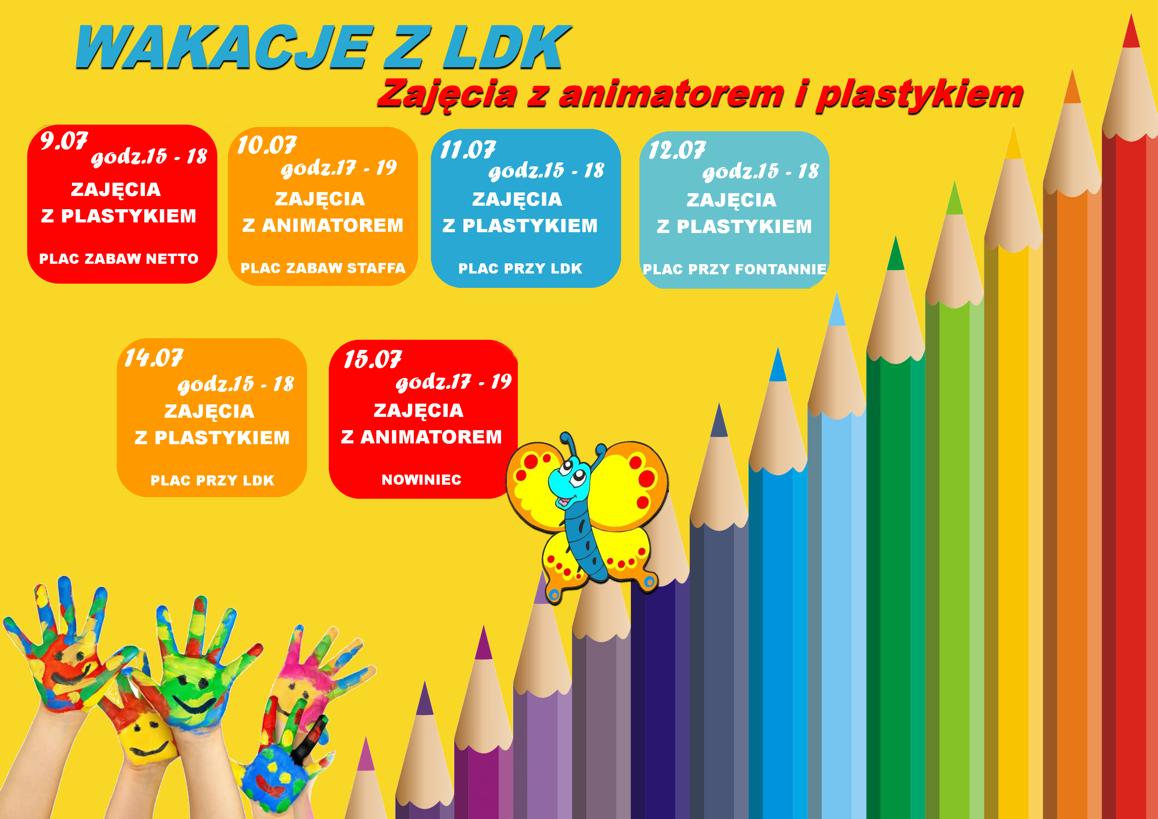 Ilustracja do informacji: Wakacje z LDK - Program zajęć dla najmłodszych