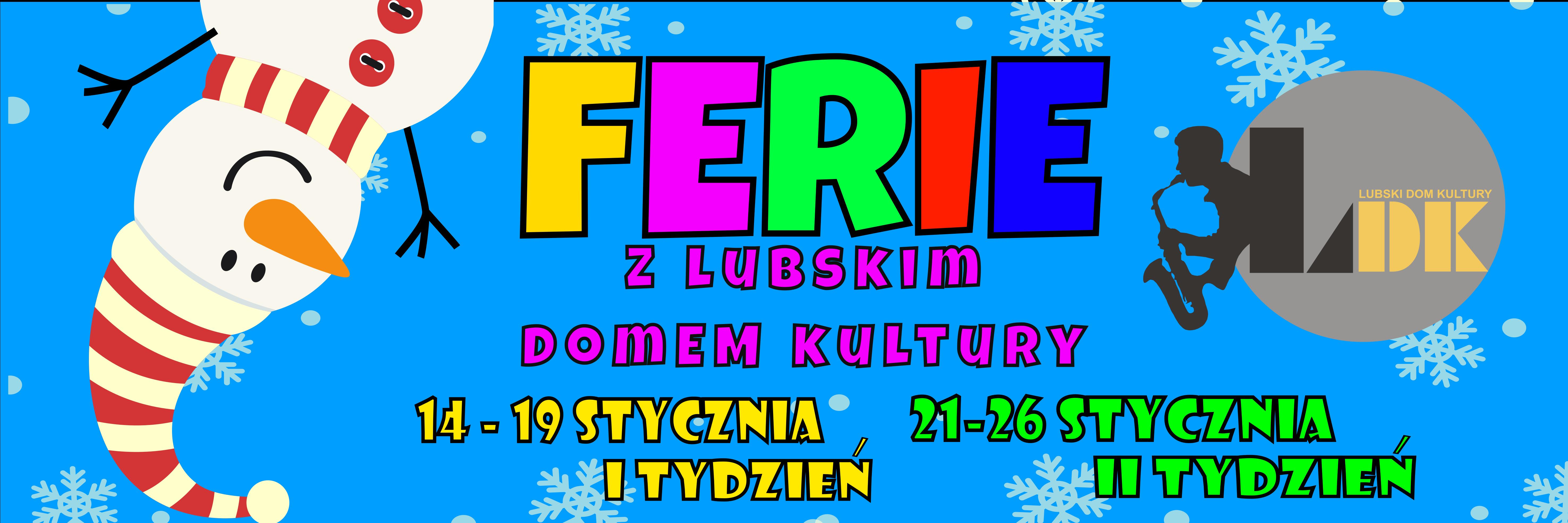 Ilustracja do informacji: I TYDZIEŃ FERII