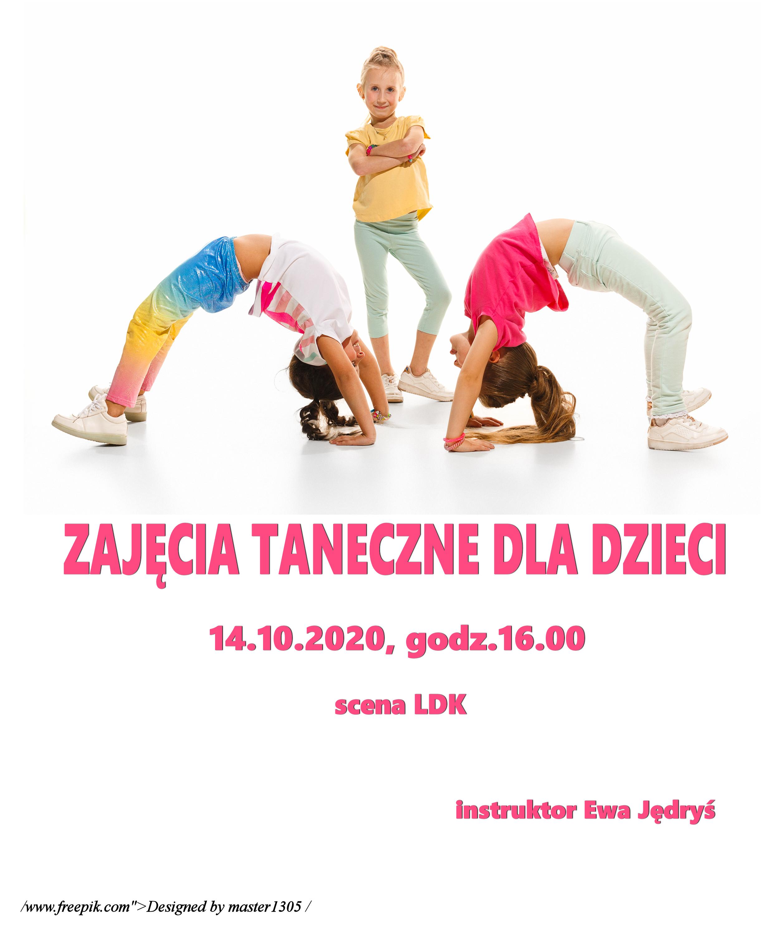 Ilustracja do informacji: Zajęcia taneczne dla dzieci