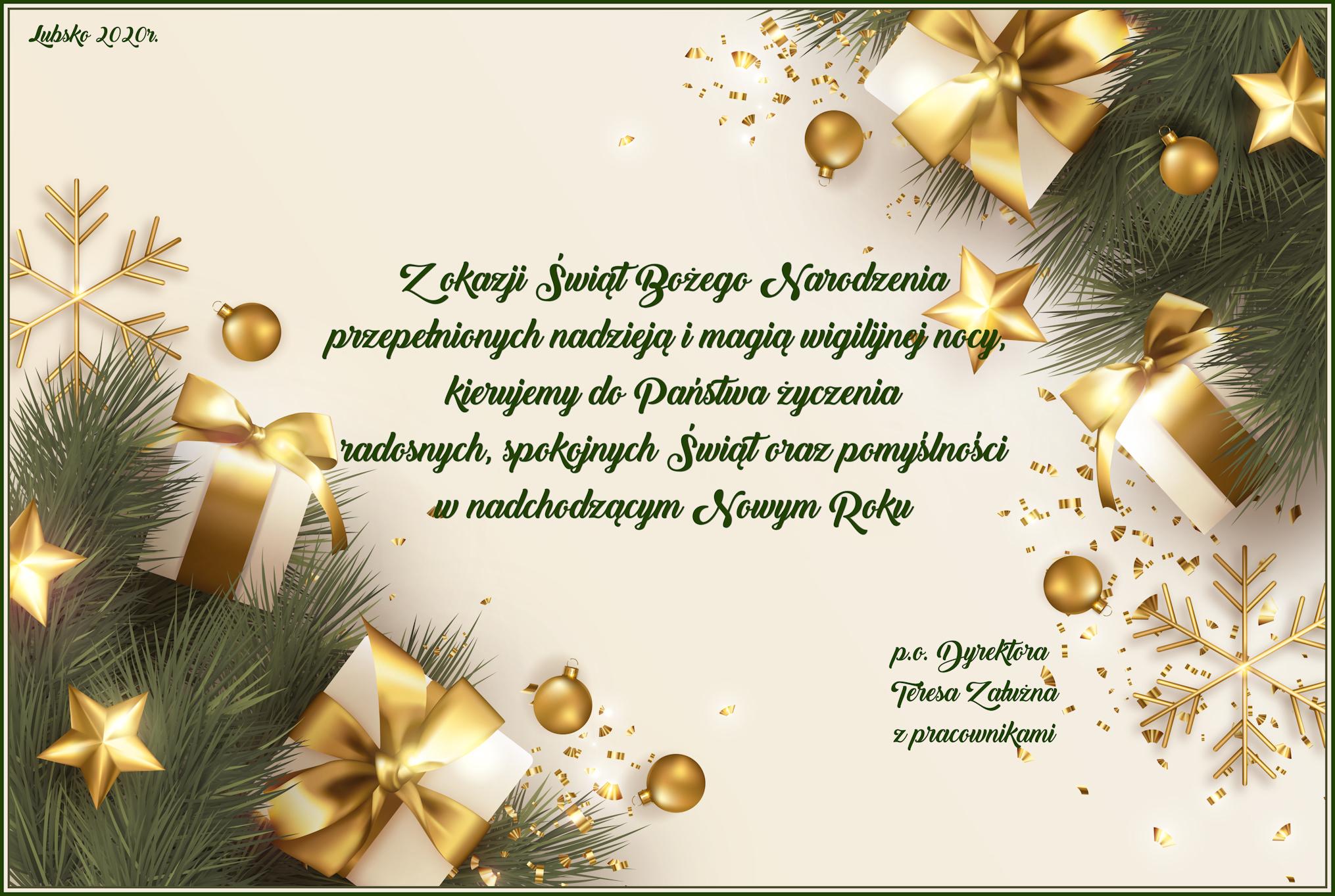 Ilustracja do informacji: Wesołych Świąt