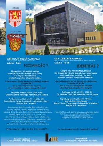 Miniatura zdjęcia: 25.07.2015 Wystawa prac artystów z Lubska i Forst pn. Tożsamość ?_11745854_684172108382072_762837307