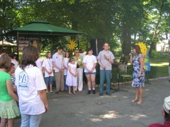 Miniatura zdjęcia: 01.07.08 Uczestnicy festiwalu Dzieci Europy-Europakinder w Domu Pomocy Społecznej w Lubsku_dps0810.j