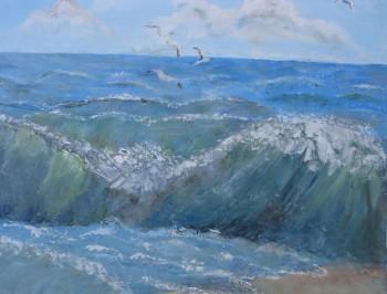 Miniatura zdjęcia: 25.09-30.10.2015 Wystawa malarstwa grupy plast. Halszki pn. Obrazy morskie_danutaœwidzińska.jpg