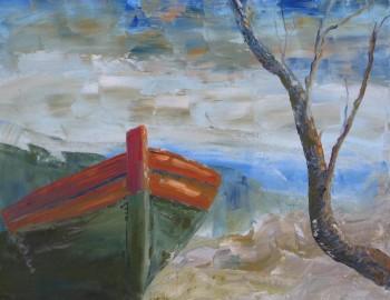 Miniatura zdjęcia: 25.09-30.10.2015 Wystawa malarstwa grupy plast. Halszki pn. Obrazy morskie_halinaskindzier2.jpg